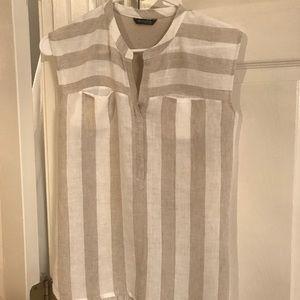 Massimo Dutti Linen blouse size XS